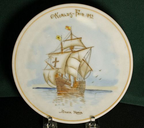 1893 World's Fair Santa Maria Plate