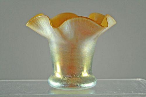 Gold Aurene Vase