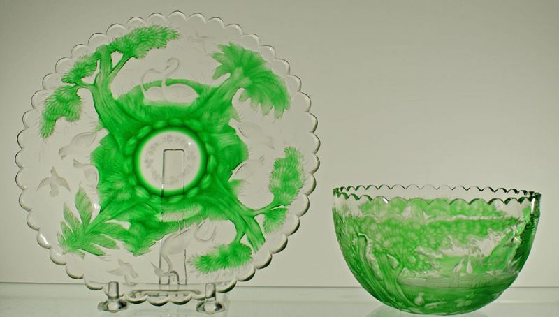 Moser Bowl and Plate