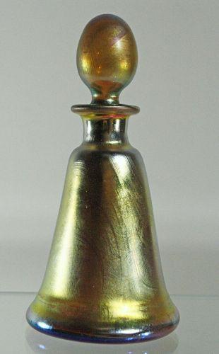 Steuben Gold Aurene Perfume Bottle