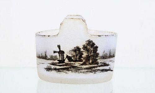 """Daum Open Salt with """"Delft"""" Scene"""