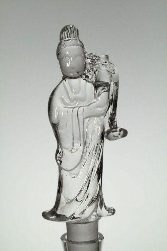 """Steuben """"Kwan Yin"""" Figurine"""