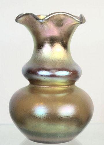 Gold Aurene Steuben Vase
