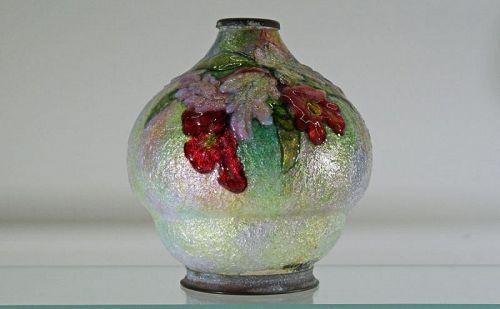 Camille Faure Enameled Vase