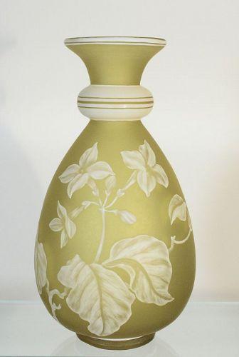 Stevens & Williams Cameo Vase