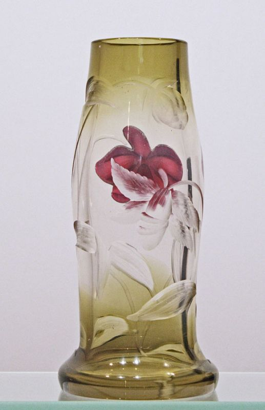 Moser Marquetry Vase