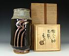 Japanese Kakeai-yu Kabin Vase by Hamada Shoji