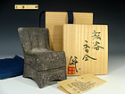 Rare Isu-gata Large Kogo Incense Case by Mihara Ken