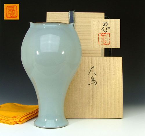 Kawase Shinobu Exquisite Contemporary Celadon Form