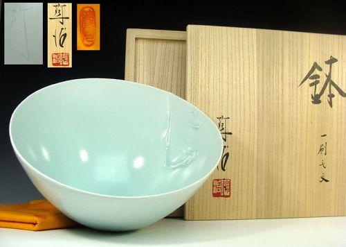 Celadon Bowl by Fukami Sueharu