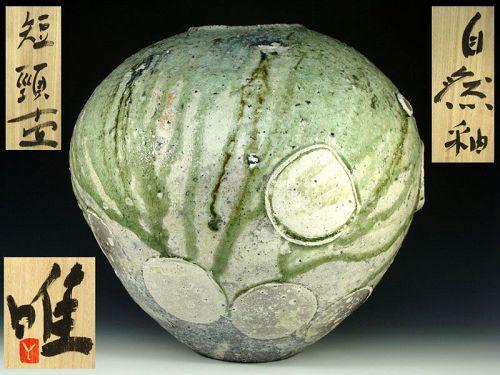 Stunning Tsujimura Yui Natural Ash Glazed Tsubo