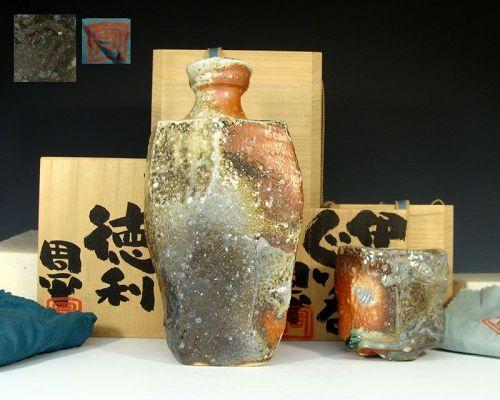 Fujioka Shuhei Iga Sake Set