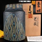 Fantastic Morino Taimei Vase with Peacock Wings Decoration