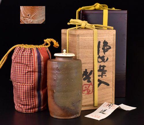 Bizen Chaire Tea Caddy by L.N.T Fujiwara Kei