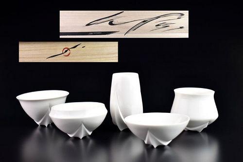 Five Cups Set by Matsumura Jun