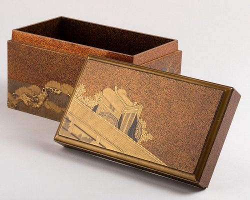 Gold lacquer Inrobuta with Gosho-gurama Edo 18th