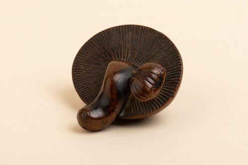 Netsuke - chestnut and a plump mushroom. Japan Edo 19th