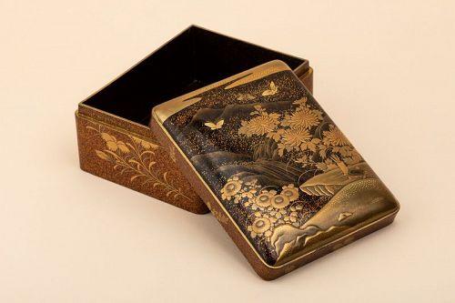 Kobako - Japanese urushi lacquer box. Japan Edo 19th