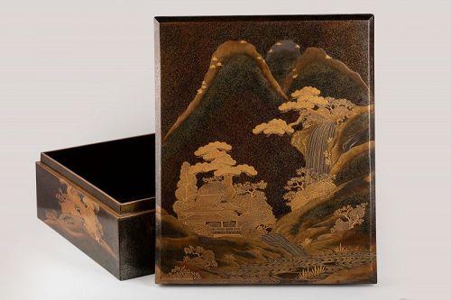 Ryoshibako-lacquer box Japan Meiji early Taisho era 19th
