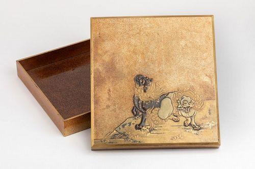 Suzuribako Rare and important writing box Japanese lacquer Japan Edo