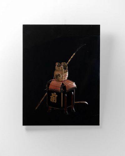Lacquer panel of Samurai armor Japan Edo End of 18th