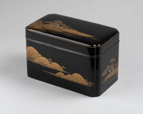Lacquer Chabako  - Tea Ceremony Utensils Box, Japan Edo 17th