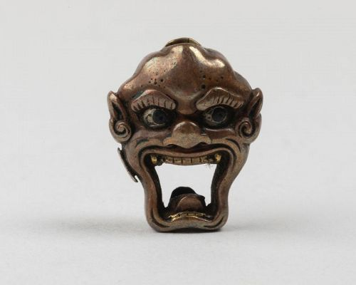 Ojime of a Oni mask, Japan Edo 19th century