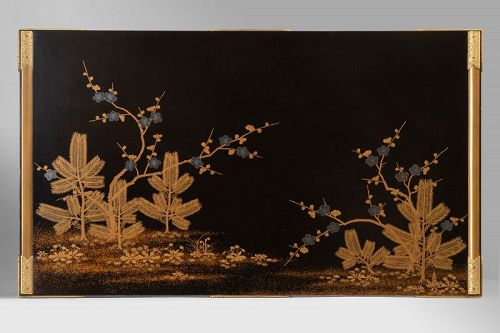 Bundaï table with four trefoil feet Japan Edo 19th century