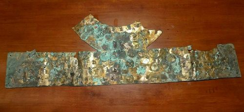 Pre-Columbian Copper Crown Gilded With Gold