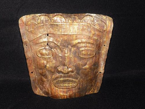 Pre-Columbian Gold Burial Mask, Central America, Panama