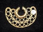 Pre-Columbian Tairona Gold Nose Ring, High Karat, Authentic