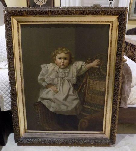 Antique Oil on Canvas Portrait, Civil War Era Painting, William Henry