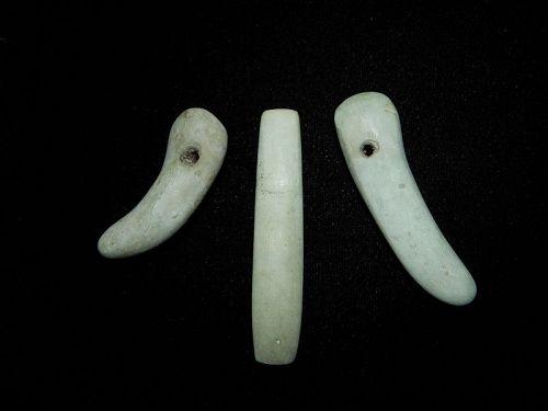 Pre-Columbian Jade Pendant Collection, Beautiful Jade, Set of 3