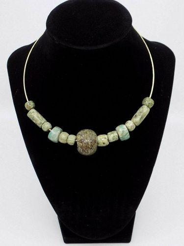 Pre-Columbian Jade Bead Necklace