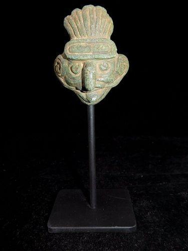 Pre-Columbian Mayan Jade Maskette