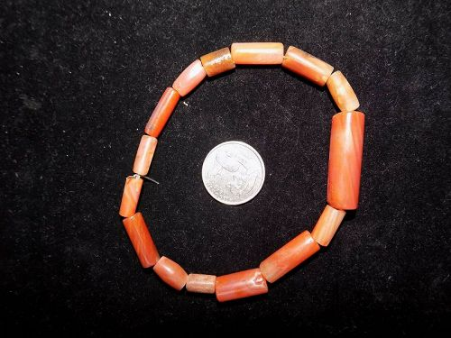 Pre-Columbian Carnelian Beads, Collection, Tairona Culture