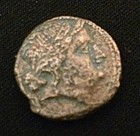 Ancient Greek Bronze Coin! Ca. 300 B.C.