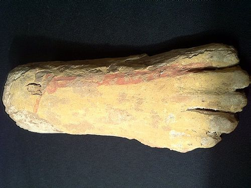 Large Egyptian Wooden Foot From a Statue! Late Period