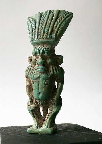 Pristine and Detailed Egyptian Amulet of Bes!