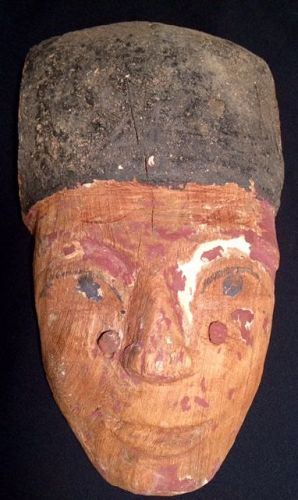 Egyptian Wooden Mask For a Man! Ca. 600 B.C.!