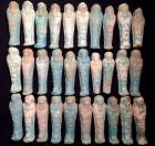 Group of 30 Egyptian Faience Shabtis!  Late Period!
