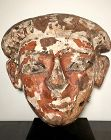 Egyptian Wood and Polychrome Mask! 21st Dynasty Ca. 1,069 B.C.!