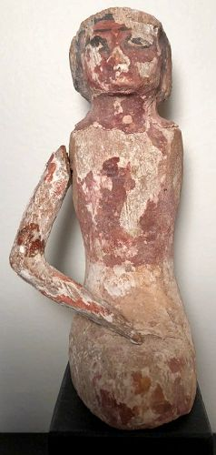 Ancient Egyptian Boat Figure With Pigment! Middle Kingdom Ca. 2,000 BC