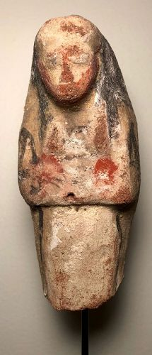Egyptian New Kingdom Terracotta Shabti With Origninal Pigment!