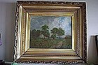 19th Century Impressionist Landscape Oil Painting