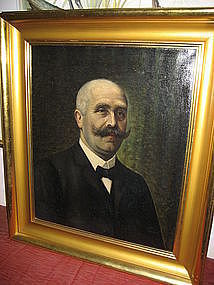 1911 Signed Gentleman Portrait by Fr. Schell