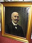 1911 Signed Gentleman Portrait by Fr. Schell