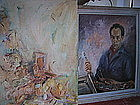 Self-Portrait By Lichtenstein as Pablo Picasso