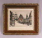 Fine Original Etching by Paul Geissler, German