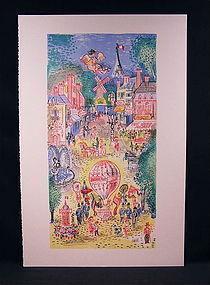 "Original Lithograph by Cobelle, ""Casino Paris"""